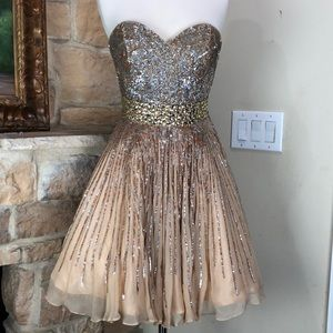 Sherry Hill sequin formal dress